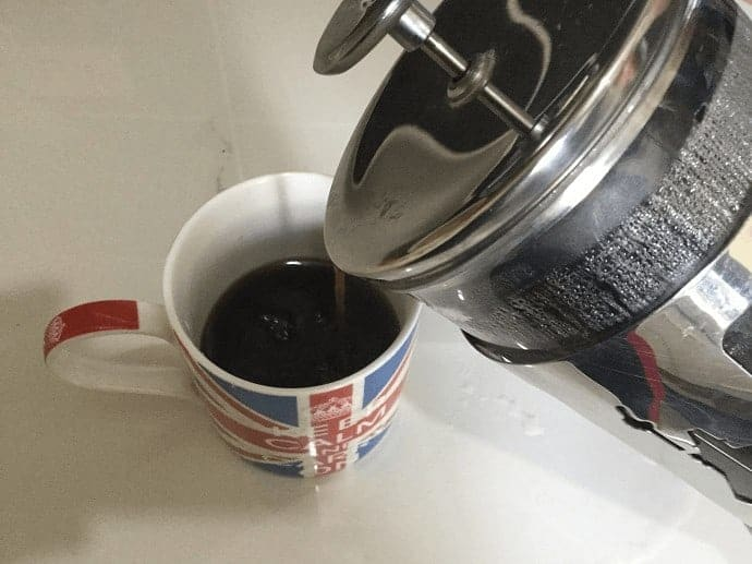 Serving coffee from the French Press