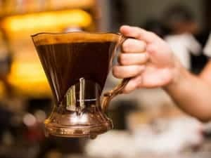 Holding a Clever Coffee Dripper