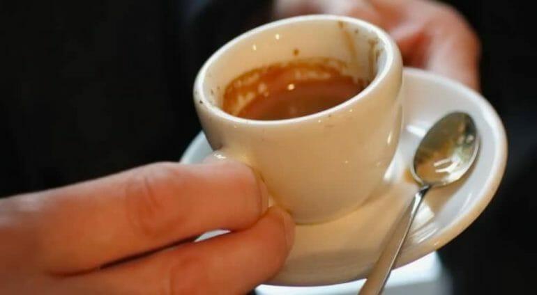 espresso demitasse cup on saucer