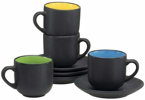 Bruntmor Espresso Cups with Saucers