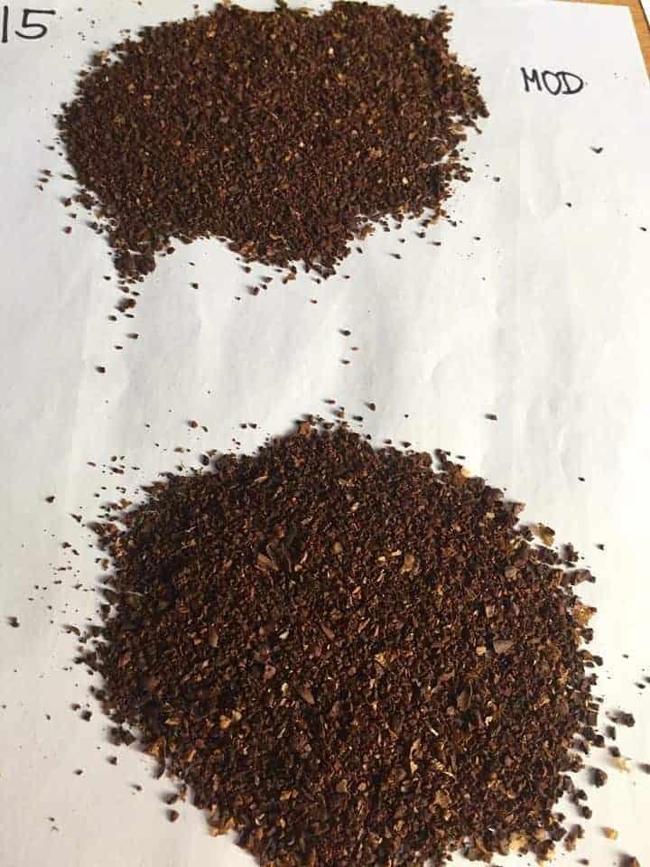 Hario-mini mill grind at 15 clicks