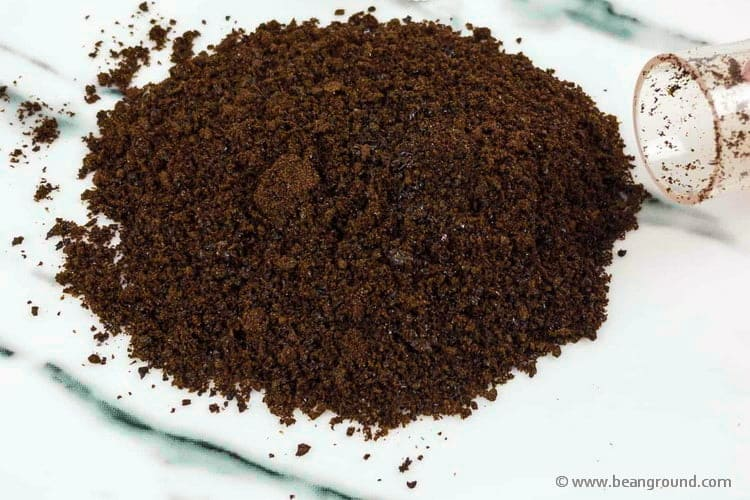 close up of sudden instant coffee grounds