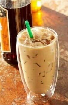 Iced Vanilla Hazelnut Latte (Sugar-Free)