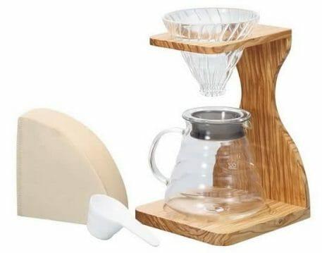 Hario V60 Olive Wood Stand Set