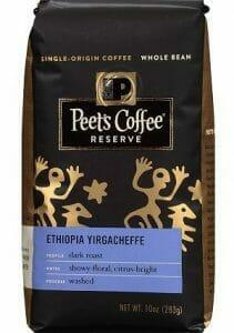 Peet's Whole Bean Coffee Ethiopia Yirgacheffe