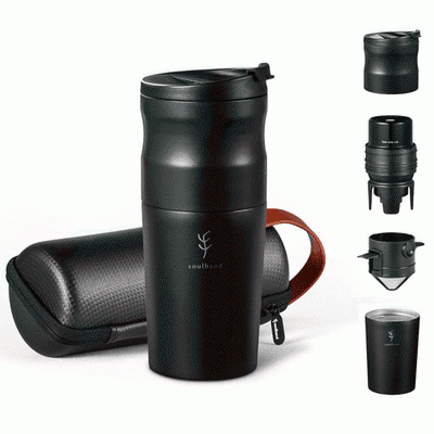 soulhand travel coffee mug with grinder