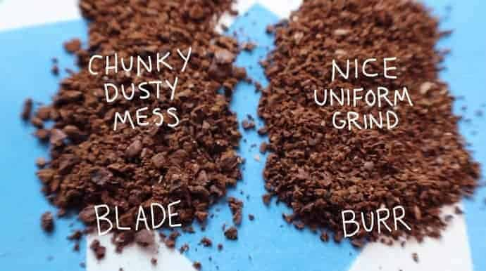 blade grinder vs burr grinder coffee grind comparison