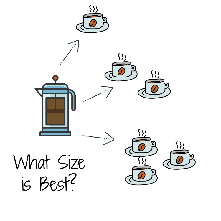 different french press sizes