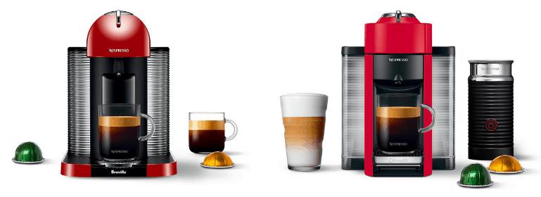 breville and de'longhi nespresso machines