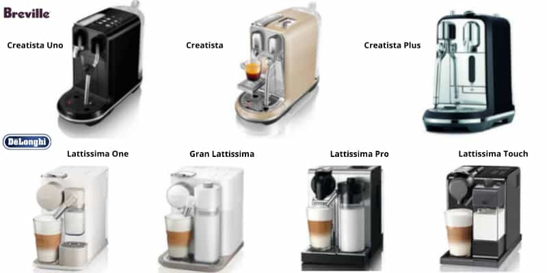 who makes nespresso machines